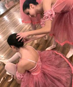 Ballet drem school_Spettacolo di danza_backstage ballerine